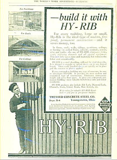 1917 HY-RIB TRUSSED CONCRETE BUILDING AD (Image1)