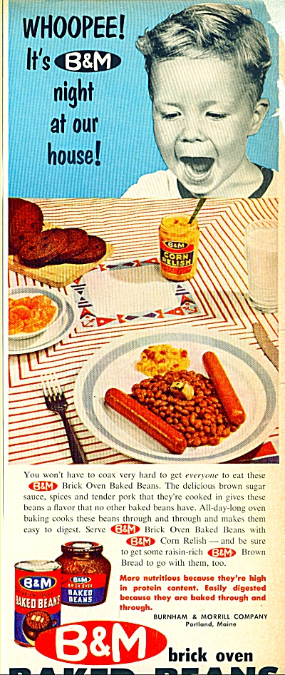 1960 B & M Baked Beans WHOOPEE Little Boy AD (Image1)