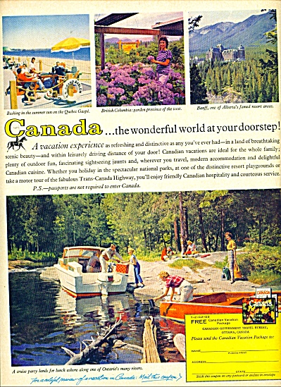 1960 Canada Travel AD Beautiful pics (Image1)