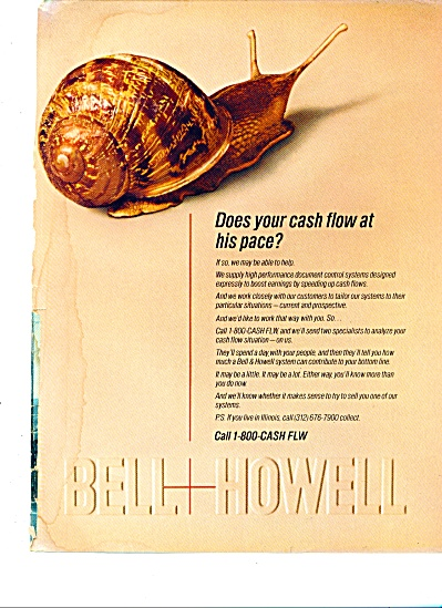 1987 Bell & Howell Cash Flow Ad