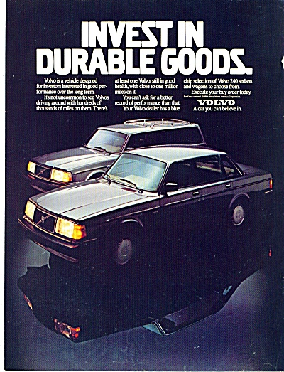 Volvo automobile ad - January 26, 1987 (Image1)