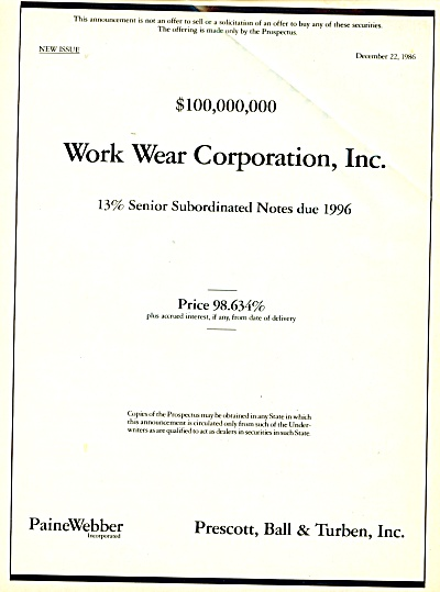Paine Webber incorporated ad   December 1986 (Image1)