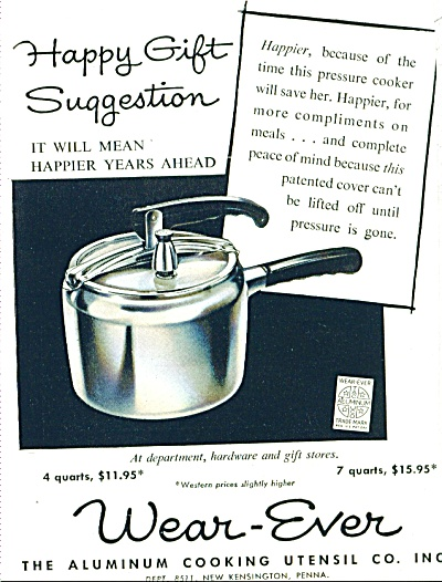 Wear-Ever cooking utensils ad - Nov. 1953 (Image1)
