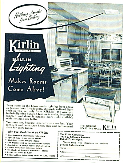 1953 Kirlin System Lighting AD Great Design (Image1)