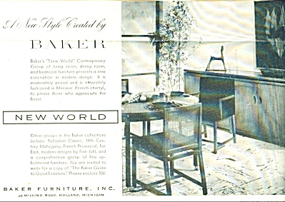 1953 Baker Furniture AD New World Dinette Set (Image1)