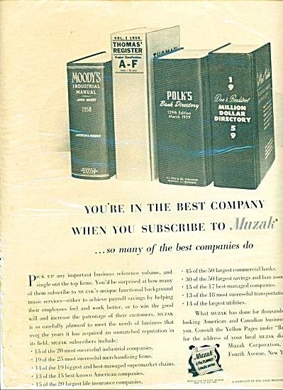 Muzak, the planned music service ad - 1959 (Image1)