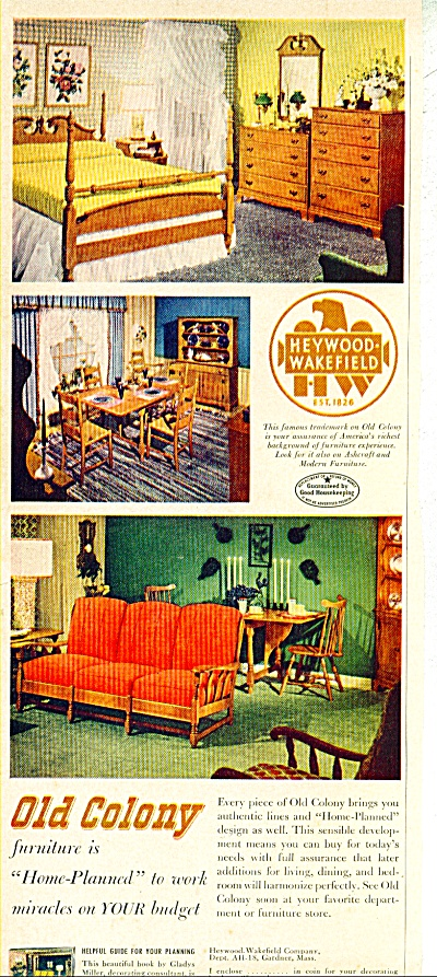 Old Colony furniture ad - Feb. 1962 (Image1)