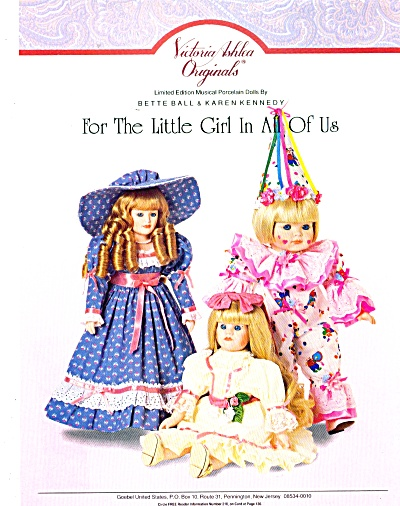 1991victoria Ashlea Originals Doll Ad Goebel
