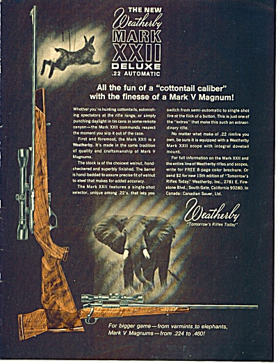1969 Weatherby Rifle AD Varmints to Elephants (Image1)