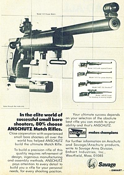 Savage rifle ad -  July 1969 (Image1)