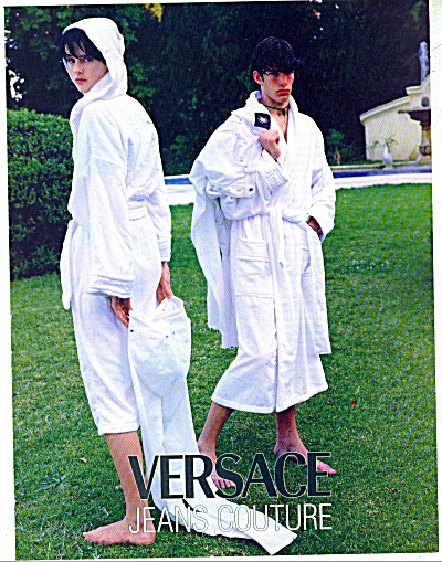 1996 VERSACE Jeans COUTURE AD Bathrobes (Image1)