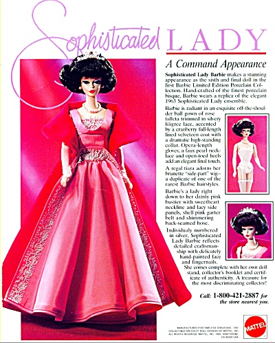 1991 MATTEL BARBIE Sophiscated Lady AD (Image1)