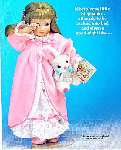 1991 Stephanie Sleepytime Doll Ad