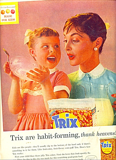 Trix sugar cereal with the fruit flavor ad (Image1)