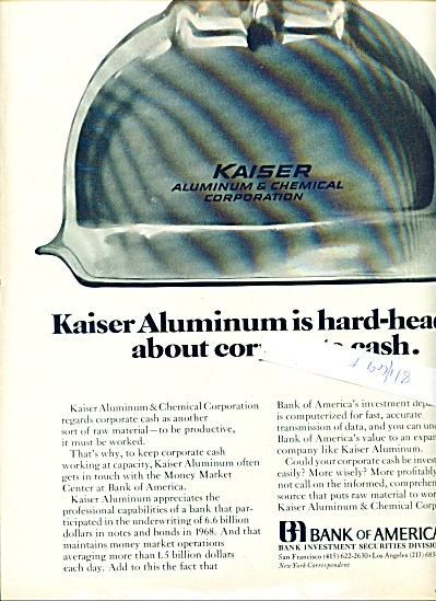 1969 Bank of America - Kaiser Aluminum AD (Image1)