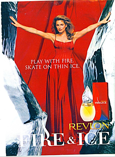1997 Revlon FIRE and ICE ad CINDY Crawford (Image1)