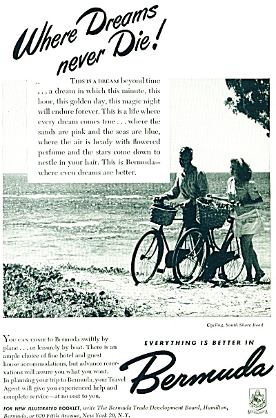 1948 Bermuda  Travel AD South Shore Road (Image1)