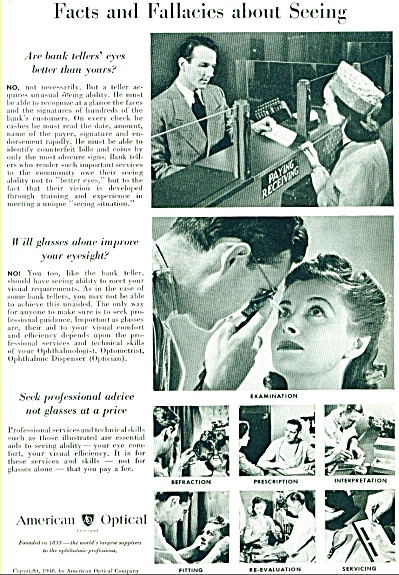 American Optical ad - July 1948 (Image1)