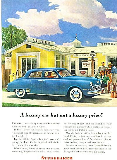1948 STUDEBAKER CAR AD Paul Heinley FARMHOUSE (Image1)