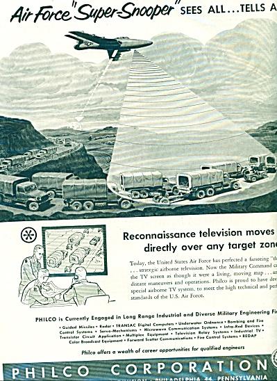 1956 PHILCO AD Super Snooper Reconnaissance (Image1)