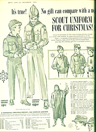 1961 Boy Scout Bsa Uniform Art Ad