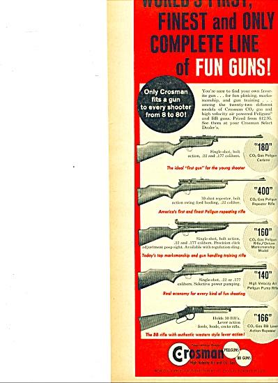 Crosman pellguns - bb guns ad - Dec. 1961 (Image1)