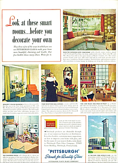 Pittsburgh Glass and Paints ad - May 1939 (Image1)