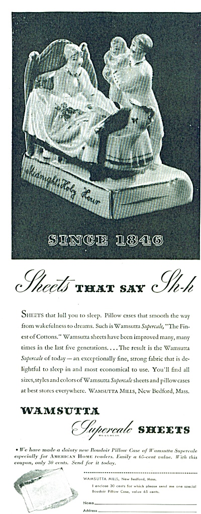 Wamsutta supercale sheets ad - May 1939 (Image1)