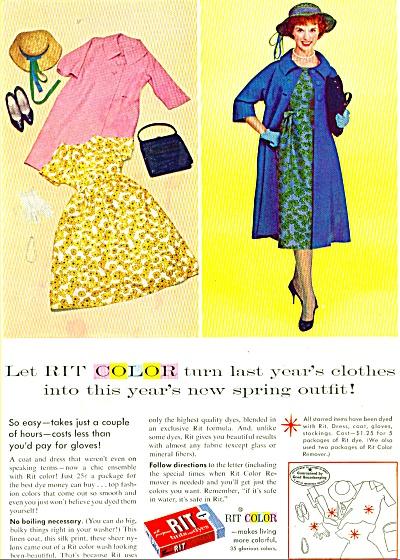 RIT DYE Color AD Vintage Fashions (Image1)