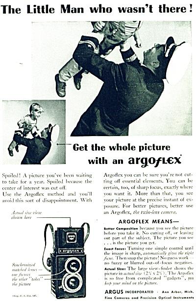 1946 Argus Argoflex Camera AD SOLDIER W/ BOY (Image1)
