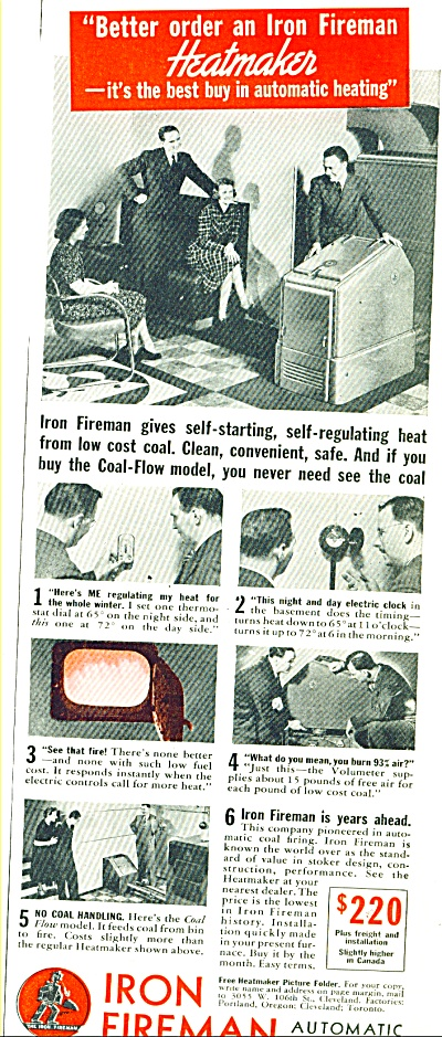 1938 Iron Fireman automatic coal firing AD (Image1)