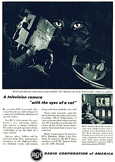 1946 Radio Corporation of America RCA CAT EYE (Image1)