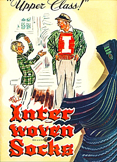 1946 Inter Women Socks AD FELL ARTWORK (Image1)