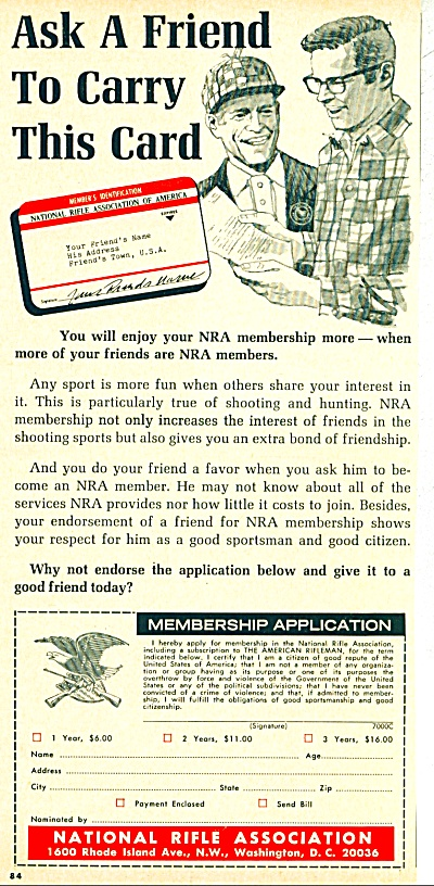 Vintage NRA National Rifle Association ad (Image1)