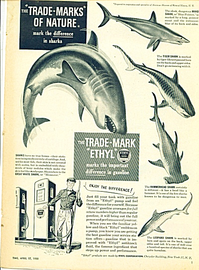The Trade Mark Ethyl ad - April 1950 (Image1)