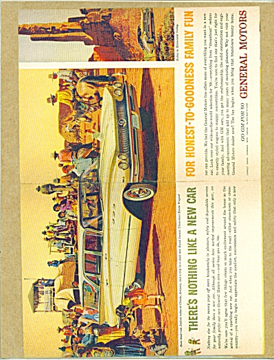 1960 GM BUICK INVICTA CAR AD Stan GALLI ART (Image1)