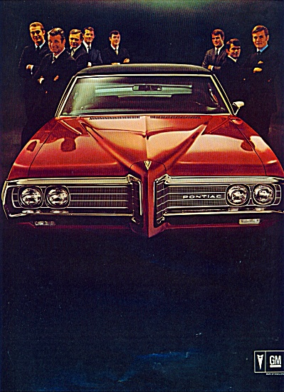 1969 RED PONTIAC CATALINA Promo CAR AD 2pg (Image1)