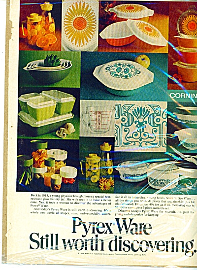 Pyrex Ware AD Corning Glass Casseroles + (Image1)