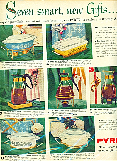 Pyrex ware ad CASSEROLES - GLASS CARAFES (Image1)