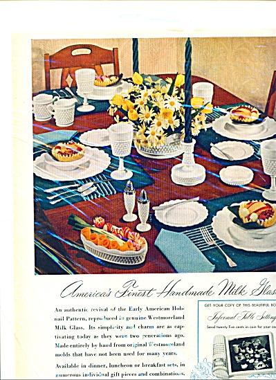 1948 WESTMORELAND GLASS AD Hobnail (Image1)