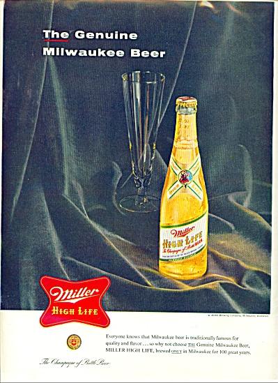 Miller High Life bBer ad (Image1)