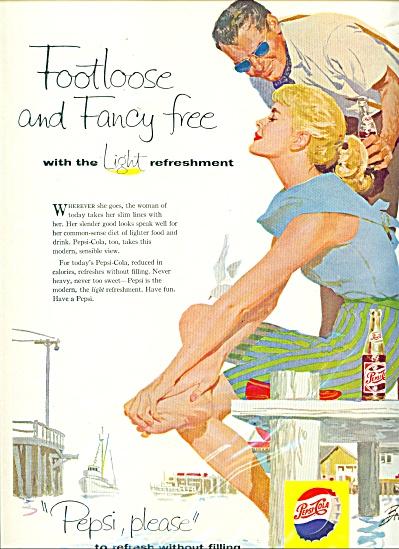 Pepsi Cola Ad -  1958 JOSEPH BOWLER ART (Image1)