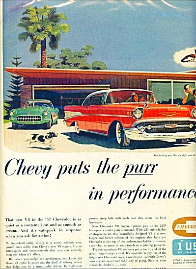 1957 CHEVY Chevrolet CORVETTE ++  AD (Image1)