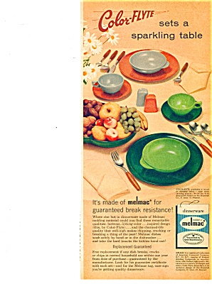 Melmac dinnerware  ad - COLOR FLYTE Pattern (Image1)
