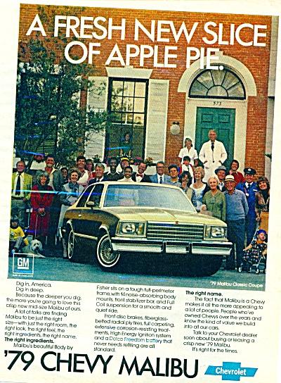 1979 Chevy Chevrolet MALIBU CAR AD (Image1)