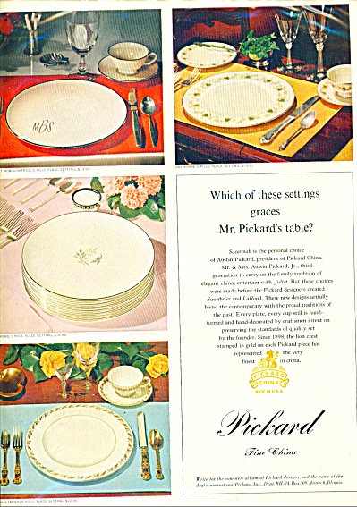 Pickard Fine China ad Savannah + Patterns (Image1)