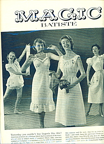 1955 Seamprufe Magic Batiste Slip AD BabyDoll (Image1)