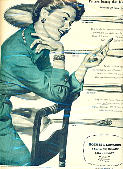 1950 Holmes & Edwards Silverplate Silver Ad