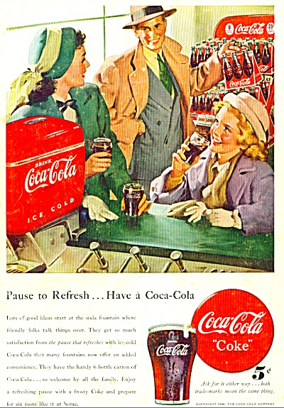 Coca Cola Coke Ad -  1948 HARRY ANDERSON ART (Image1)