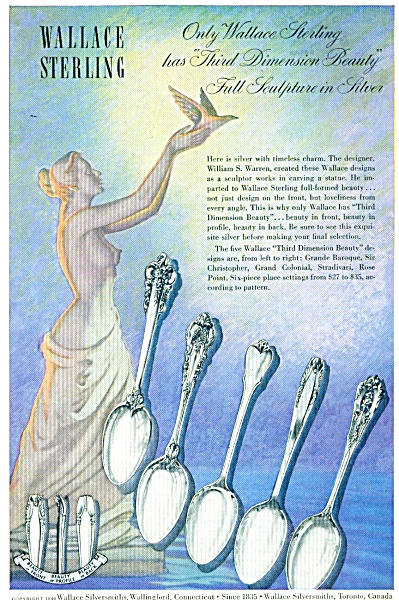 1948 Wallace Sterling Silverware Ad Patterns